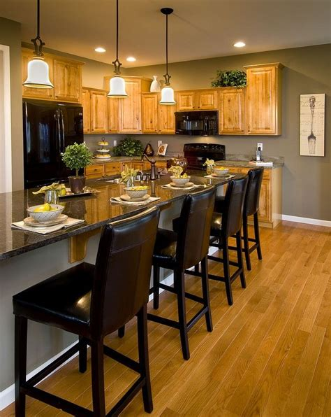 kitchen model and its color palette home and cabinet reviews model kitchen with oak cabinets like the paint color