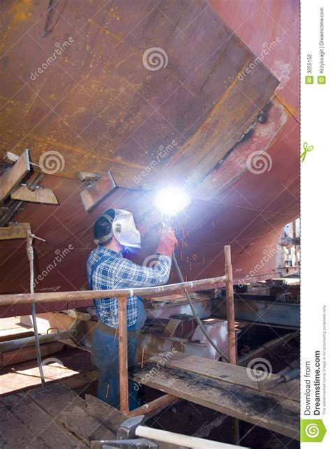 Shipyard Welding by Welder At Shipyard Stock Photo Image Of Manufacturing 3255152