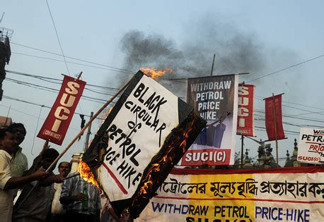 Essay On Rise In Petrol Price by Photo Essay Gasoline Prices Rise In India India Real