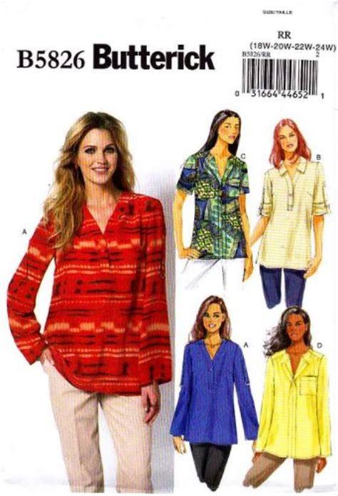 pattern drafting plus size butterick sewing pattern 5826 womens plus size 18w 24w