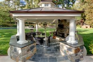 Backyard Picnic Table Stunning Outdoor Spaces And Cooling Covered Patios