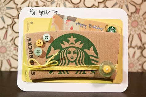 birthday card starbucks gift card holder crafting and teaching