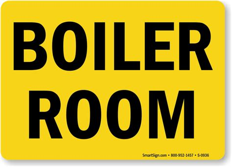 boiler room signs door gate signs sku s 0936