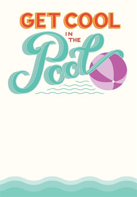 free pool invitation template printable pool free printable invitation template