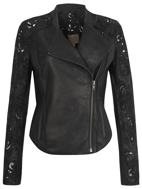 biker jacket layout muubaa tureis leather laser cut biker jacket in black
