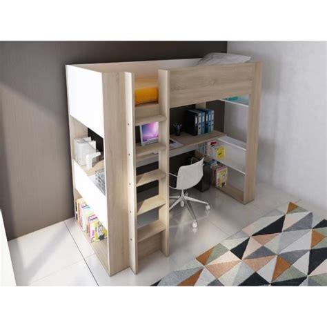lit mezzanine avec bureau et armoire int馮r駸 lit mezzanine noah avec bureau et rangements int 233 gr 233 s