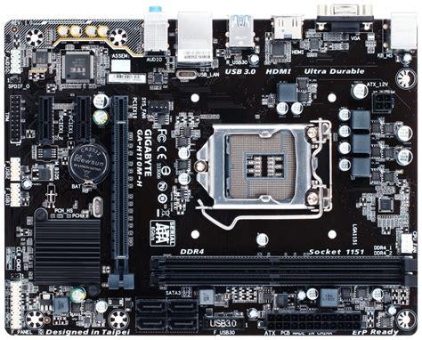 Motherboard Gigabyte Ga Hm110m A gigabyte ga h110m h motherboard ddr4 ga h110m h centre