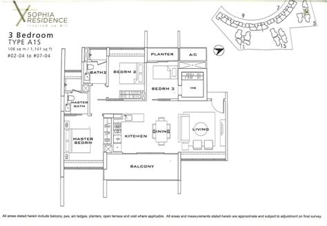 4 Bedroom Floor Plan floor plan sophia residence