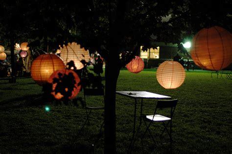 backyard paper lanterns fun 1st anniversary party ideas