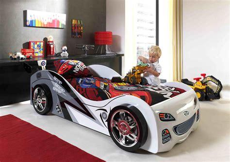 lit enfant voiture coloris blanc pole position lit