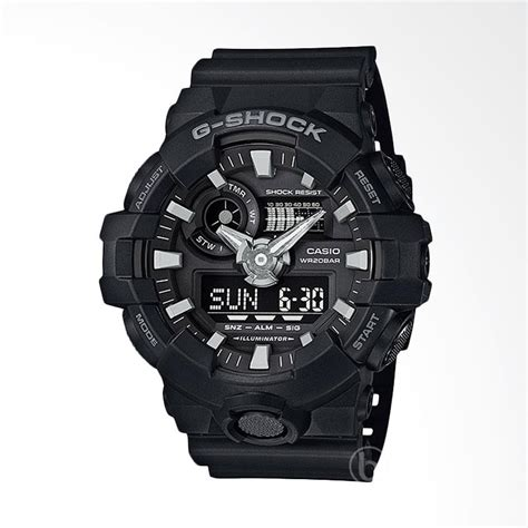 Jam Tangan Gs Ga 110 Black List White harga g shock original ga 110 1b jam tangan pria black pricenia