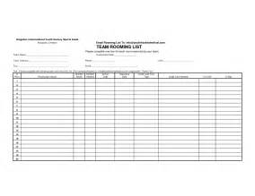 hotel rooming list template best photos of rooming list template excel hotel
