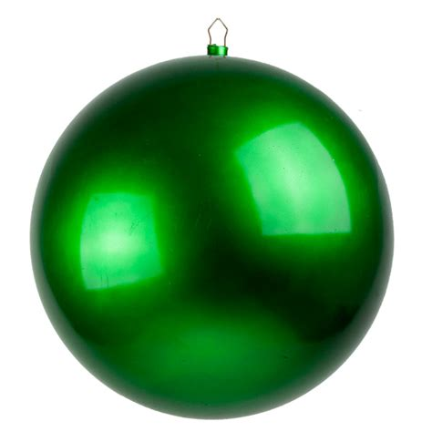 green metallic finish shatterproof bauble single 400mm