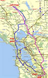 calistoga california map california map