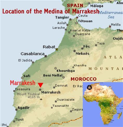 medina on world map medina of marrakech morocco world heritage
