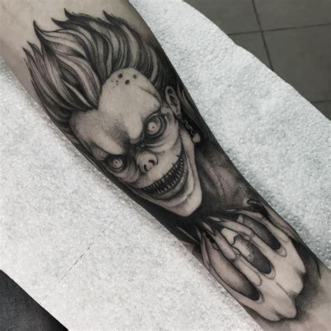 death note tattoo ryuk from note my tatts tattoos