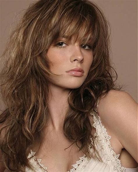 shags with highlights haircuts with bangs gypsy and haircuts on pinterest