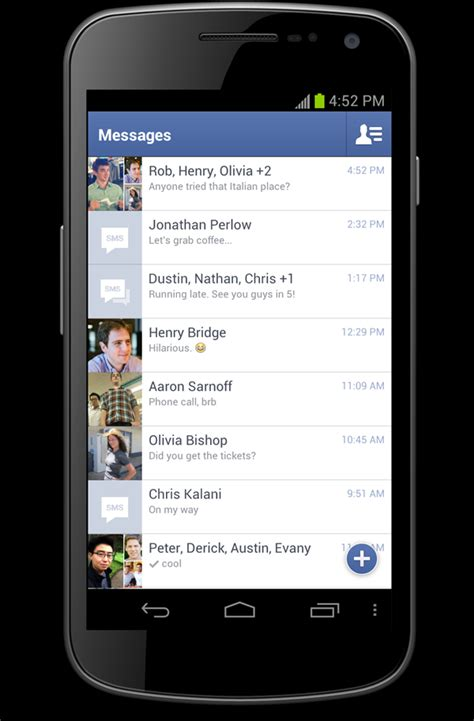 full facebook for android facebook updates android app and messenger