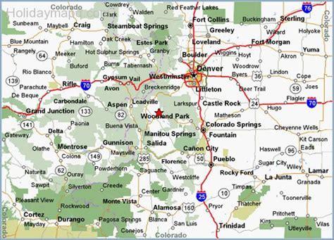 colorado road map map of colorado map travel holidaymapq