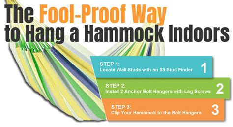 how to hang a hammock indoors in 3 easy steps