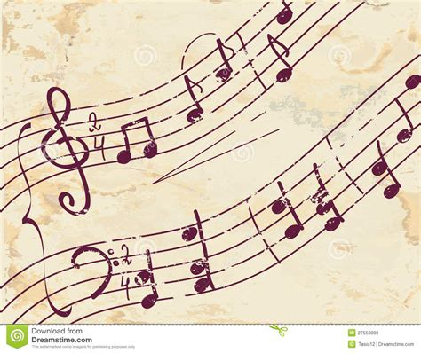 musical note background on the paper stock photo image