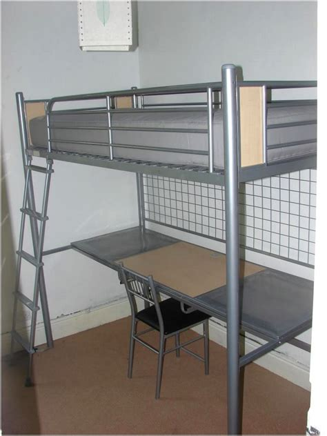 bunk bed with desk underneath ikea black loft bed note