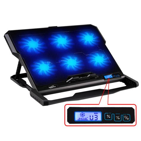 Notebook Cooler 2 Fan Kepiting laptop cooler 2 usb ports and six cooling fan laptop cooling pad notebook stand for 14 6 quot 16