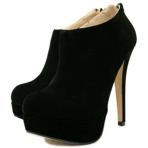 alena suede style stiletto heel platform zip ankle boots