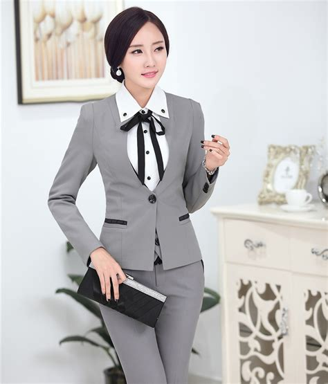 jacket design ladies suits aliexpress com buy formal uniform design professional