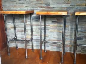 How To Make A Bar Stool Out Of Wood Pipe Cherry Bar Stools Bar Ideas Bar