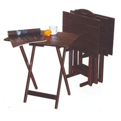 Folding Tray Table Set Folding Tables Folding Tray Table Set 900499 Co Nationalfurnishing