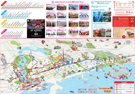 sightseeing map maps update 28001696 dubai tourist attractions map