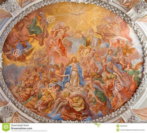 fresco baroque vienna baroque fresco of coronation of holy from