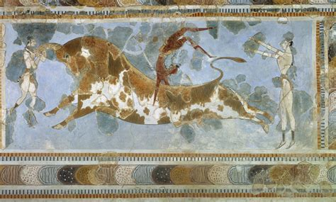 Outdoor Wall Mural Stencils minoan bull leaper travelling greece