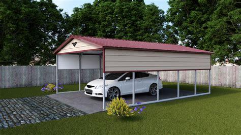 Single Carport by 12 X 26 X 8 Single Carport Vertical Carport Supercenter