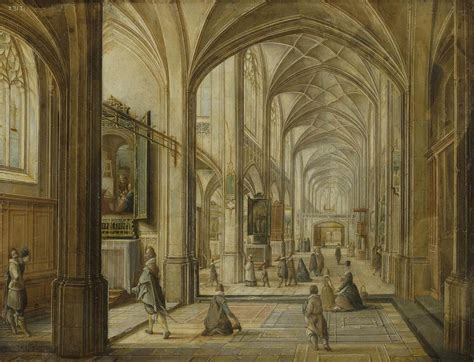 gothic interior hendrick van steenwyck the younger a prison interior with