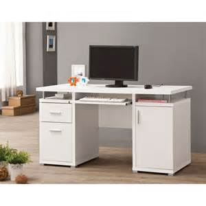 Computer Desk With Hutch And File Drawer Coaster White Finish Wood Office Computer Desk With File