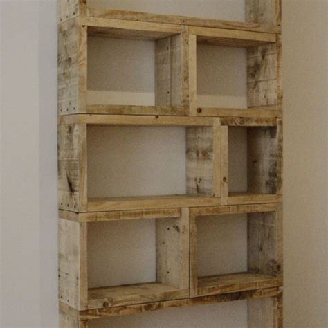 Cheap Wood Bookcases Reclaimed Timber Shelving Unit Folksy