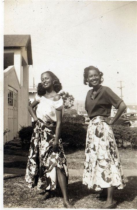 african american 50s fashion waheedpix sisters in skirts 1950 s donated vintage