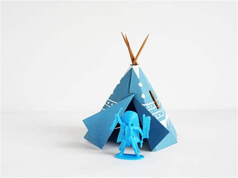 Make A Teepee Out Of Paper - printable papercraft teepee handmade