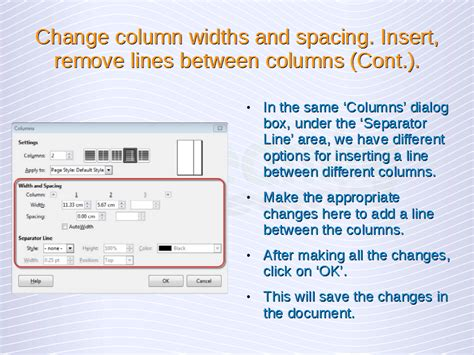 word change layout to two columns advanced word processing columns