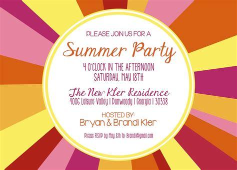 summer invitation templates free shilo prints kler summer invitation