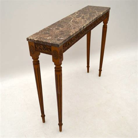 antique wood console table antique marble top gilt wood console table