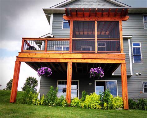 Garden Arts And Crafts - cedar pergola covered cedar deck with polycarbonate roof