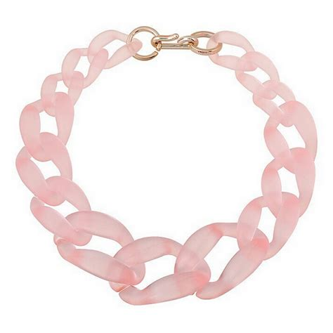 plastic jewelry he519 big plastic chain necklace fashion jewelry 7 colors