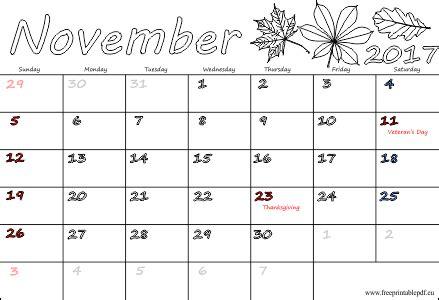 Turkey Calendario 2018 November 2017 Calendar With Holidays 2018 Calendar Printable