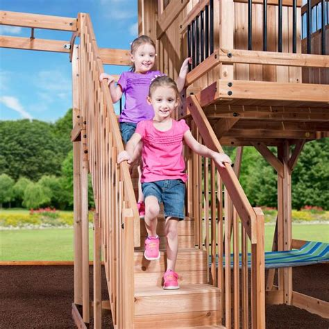 oceanview wooden swing set playsets backyard discovery
