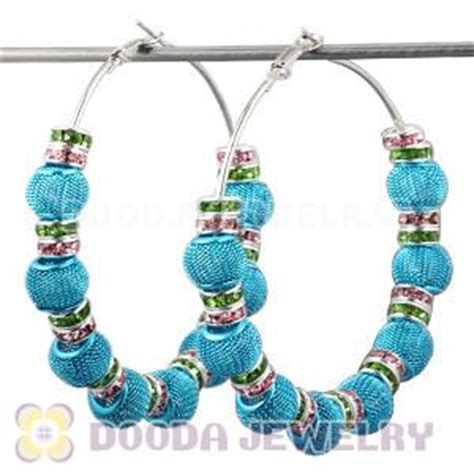 Bubble Ball Chandelier 70mm Blue Basketball Wives Mesh Ball Hoop Earrings