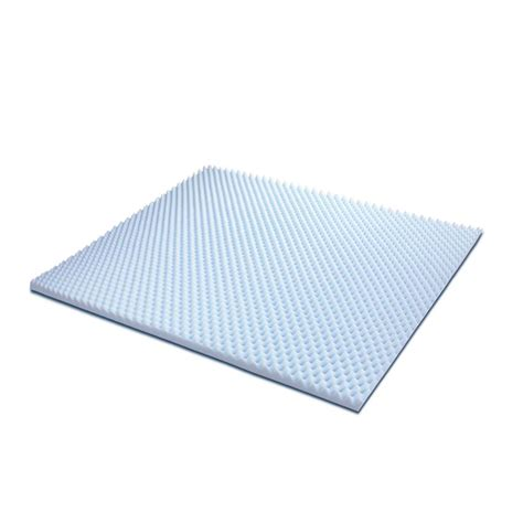 egg crate mattress topper furinno angeland 2 in king size egg crate gel hd foam mattress topper fe26222k the home depot