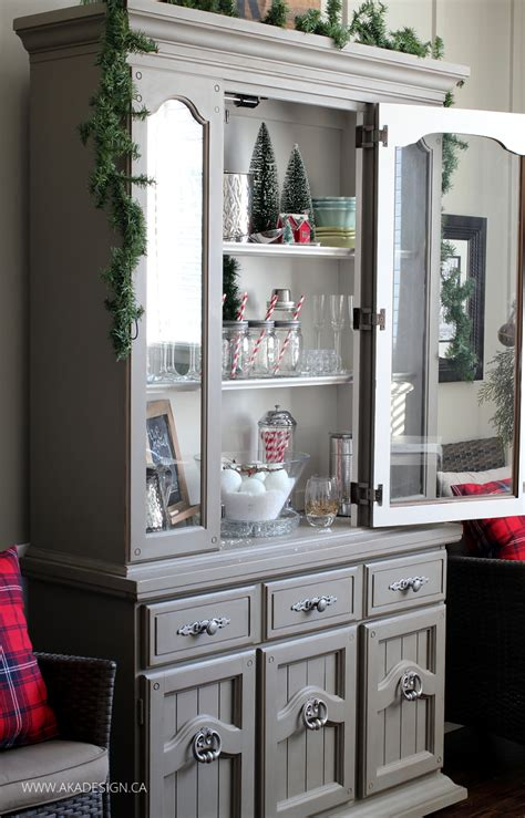 decorating a dining room hutch for